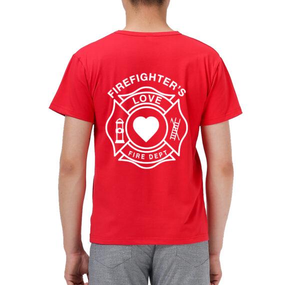 Firefighter Love Red Men – Back