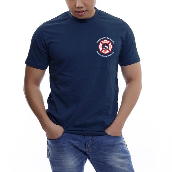 Saving Lives Nvy Tshirt Men – Front