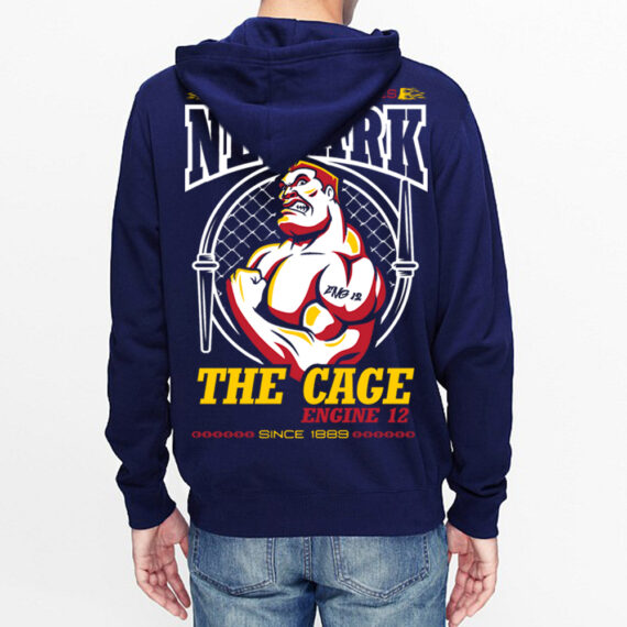 Engine 12 The Cage Navy Hoodie Back
