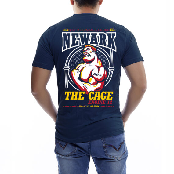Engine12 The Cage Navy Tshirt Back