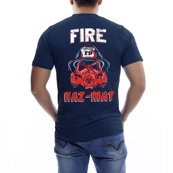Fire Hazmat Navy Tshirt Back