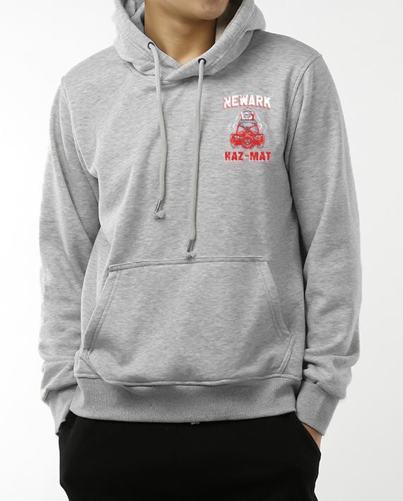 Newark Hazmat Grey Hoodie Front