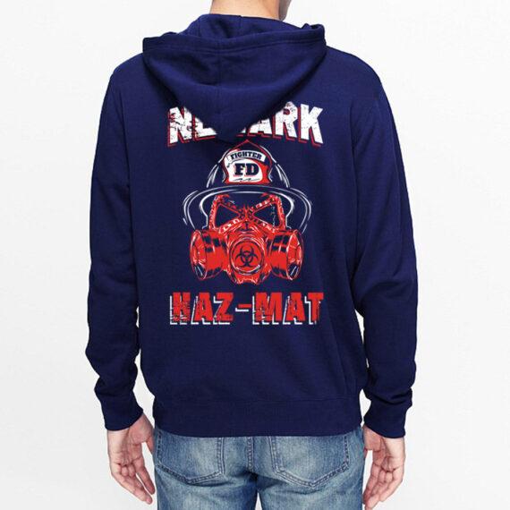 Newark Hazmat Navy Hoodie Back