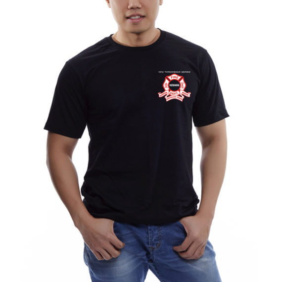 Engine 9 BLACK TSHIRT BLANK – FRONT