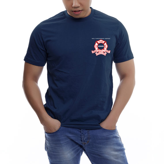 Engine 9 NAVY TSHIRT BLANK – FRONT