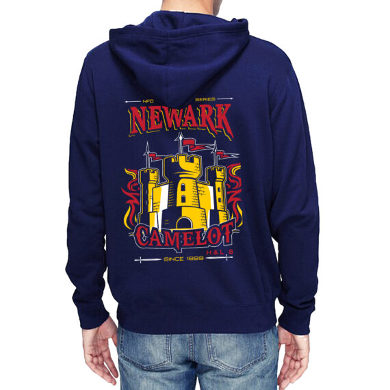 Camelot NAVY HOODIE – BACK