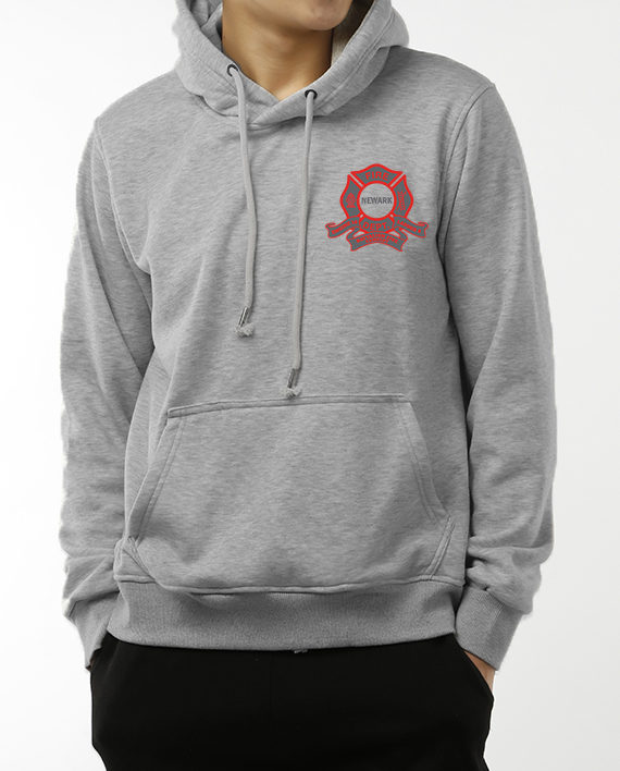 Camelot heather gray hoodie front