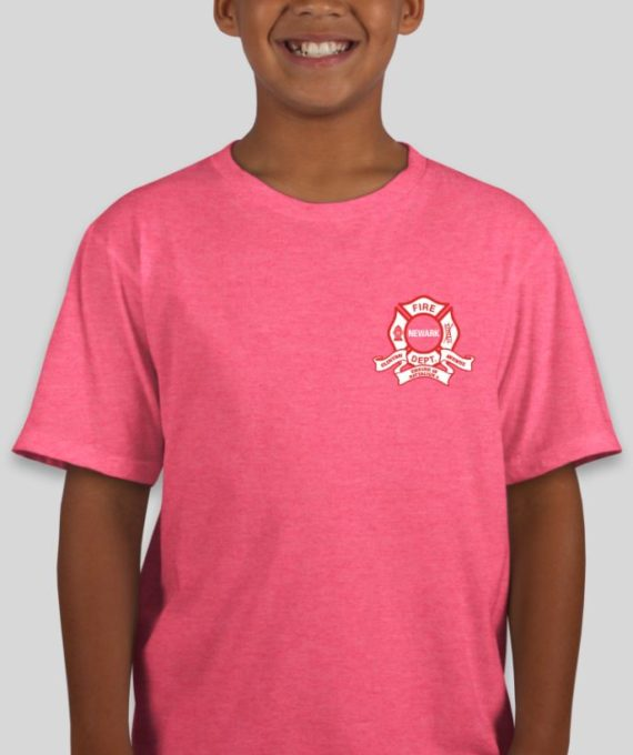 Engine 10 Heather Hot Pink Mockup – Front