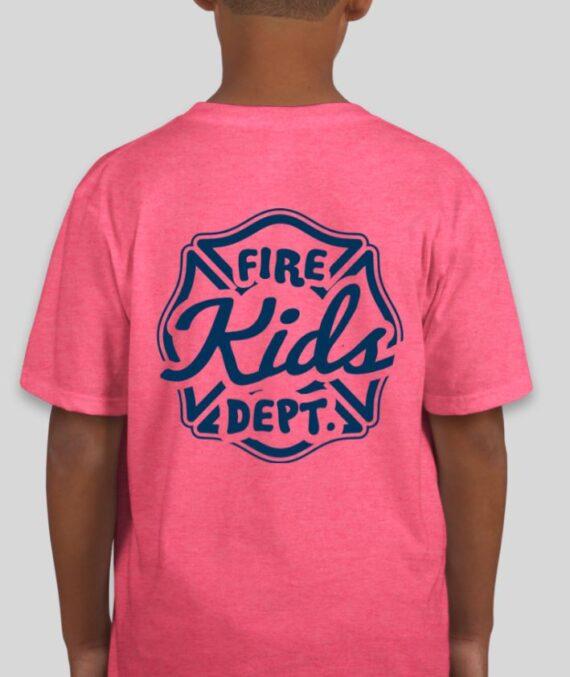 Fire Kids Heather Hot Pink Mockup – Back