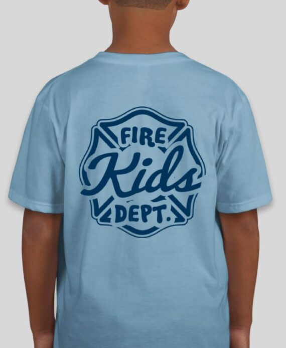 Fire Kids Light Blue Mockup – Back