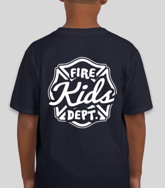 Fire Kids Navy Mockup – Back