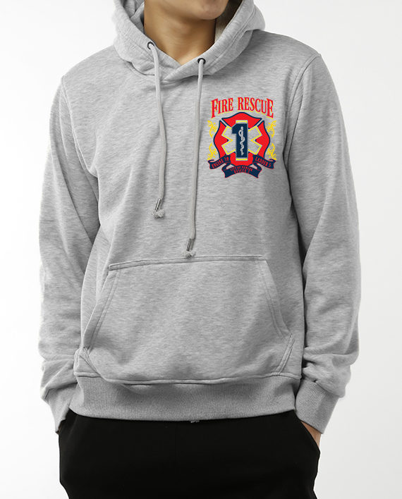 Fire Rescue heather gray front