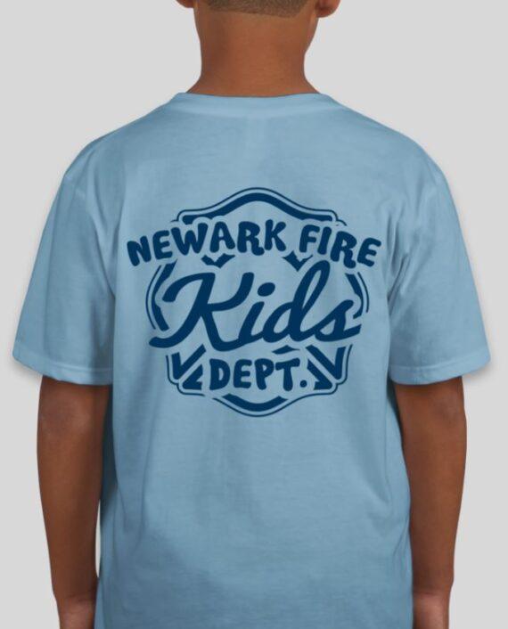 3,3//4,5//6YR 2 Fireman Sam Neuf avec Étiquettes 2014 Bleu Clair FS T Shirt