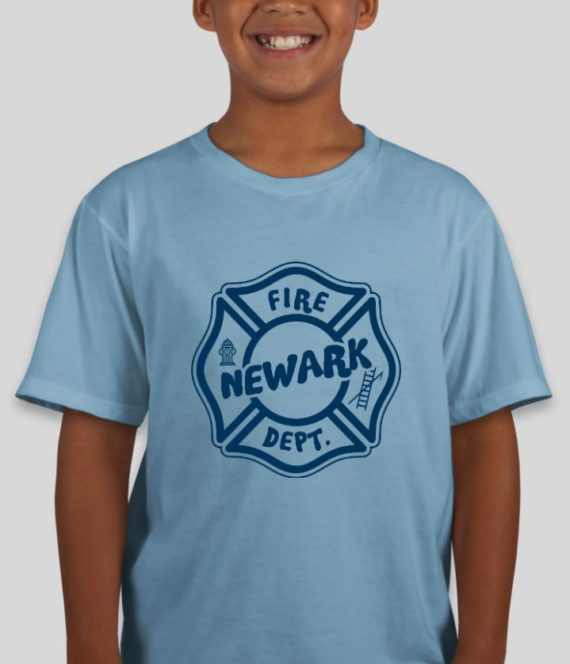 Newark Fire Kids Light Blue Mockup – Front
