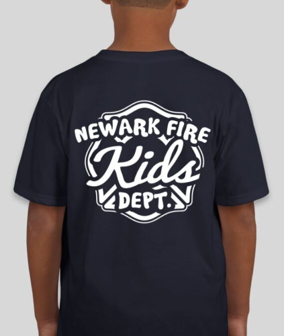 Newark Fire Kids Navy Mockup – Back