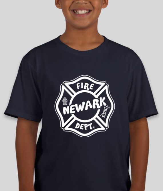 Newark Fire Kids Navy Mockup – Front