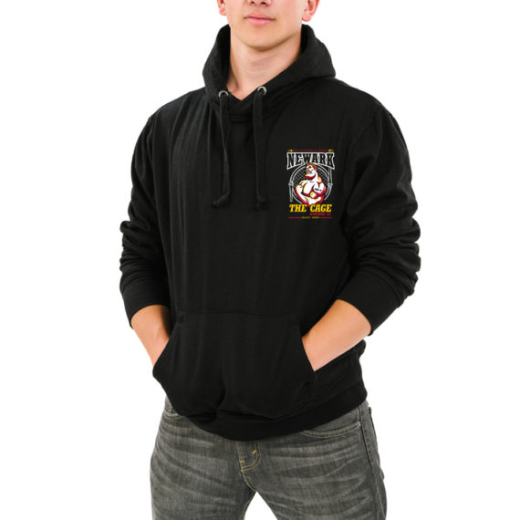 The Cage BLACK HOODIE – FRONT