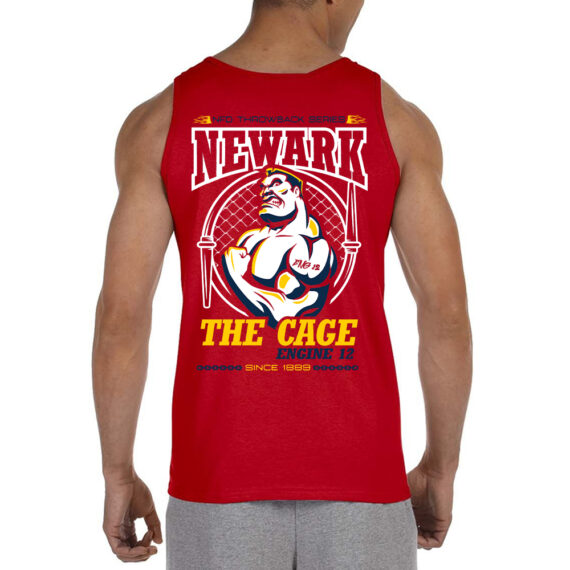 The Cage RED Tank BACK Mockup
