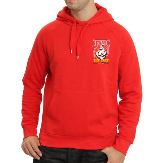 The Cage Red – Hoodie FRONT Mockup