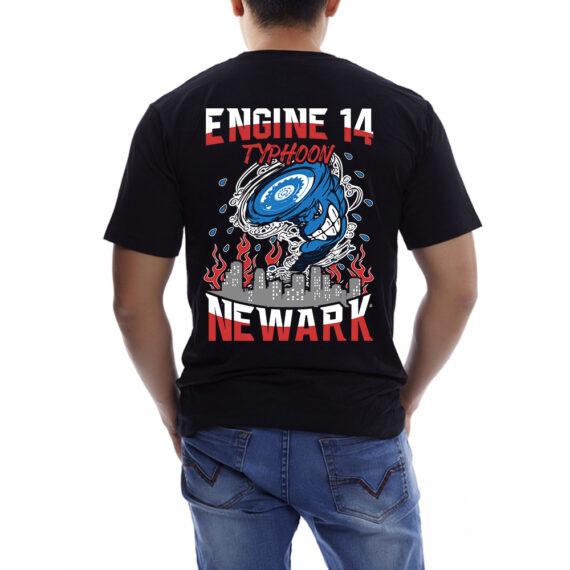 Typhoon – Mockup BACK – Black Tshirt