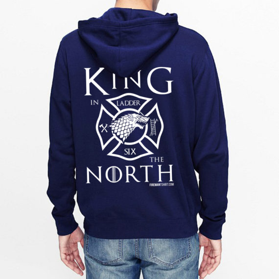 King of the North NAVY HOODIE – BACK