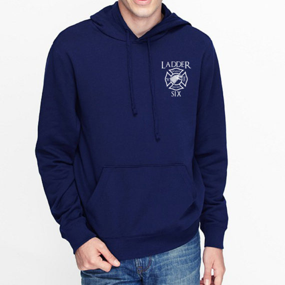 King of the North NAVY HOODIE – FRONT