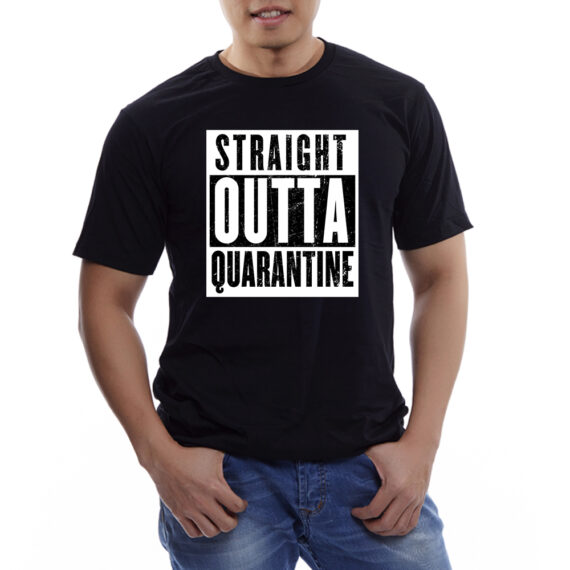 Straight Outta Quarantine Mockup – BLACK